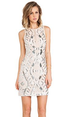 Lumier Tribal Treasures Body Con Dress in Pink & Nude | REVOLVE
