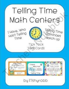 Telling Time Pack - Activities & Games for Small Groups product from 2nd-Grade-Waves on TeachersNotebook.com