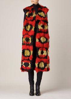 Marni Alpaca Fur Waistcoat (Red)
