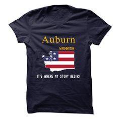 (Tshirt Suggest Design) AUBURN Its where my story begins Teeshirt of year Hoodies Tee Shirts
