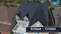 Well, that is a steep roof. Eclipse adds a stately look to this modest suburban home. Come and see more at www.rvp-roofing.com.  #rvp #armadura #permanentroof #highstrengthsteel #eclipse Roofing Systems, Come And See, Metal Roof, Homes, Steel, Mansions, House Styles, Home Decor, Armour