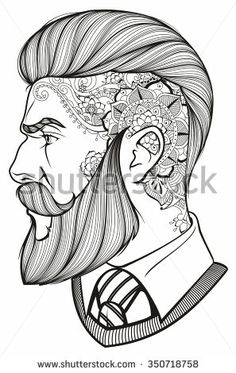 man with beard and tattoo
