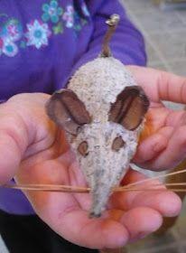 Milkweed pod mouse