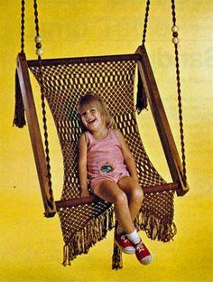Macrame swing.