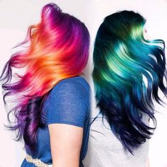 {#VPInspiration} Yin and Yang - Sunrise, Sunsetand Sea Change Amazing hair work from @kristinacheeseman