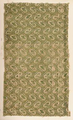 Fragment ~ Italian ~ silk ~ century ~ Metropolitan Museum of Art
