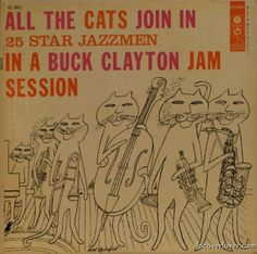 """Album cover - """"All the Cats Join In Buck Clayton Jam Session"""" (Columbia Records, 1956)"""