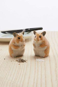 Salz- und Pfefferstreuer im Hamsterdesign