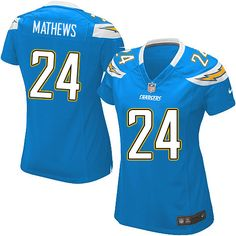 Women's Nike San Diego Chargers #24 Ryan Mathews Elite Alternate Light Blue Jersey $109.99