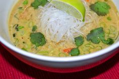 Thai Coconut & Green Curry Chicken Noodle Soup | Rux Cooks