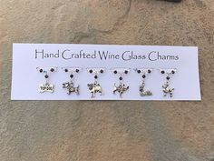 Stocking Fillers - Dog Lovers - Wine Glass Charms - Christmas Gifts - Teachers Gifts - Gifts for Her - Gifts for Him
