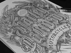 Sketch - Harley-Davidson by Marcelo Schultz