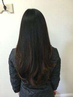 Subtle bayalage for dark hair. Thank you CR Hair!