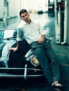 """. . . Classic. White. Shirt. Bluejeans. and Sportscar. . . ALWAYS. Perfection. . ."""