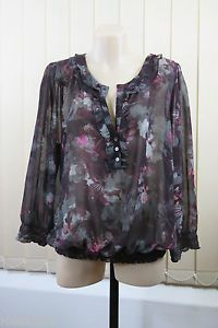 Size XL 16 Basque Ladies Sheer TOP Tunic Business Corporate Cocktail Design | eBay
