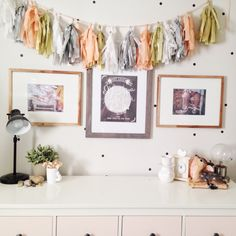 little girls room, peach ombre dresser, diy,ikea hack
