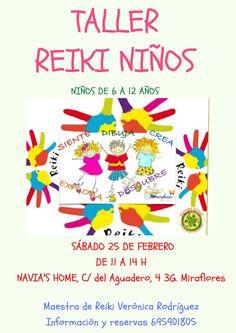 Quieres que tus hijos pasen este sábado 25 de febrero, un rato divertido aprendiendo Reiki, este taller esta creado para niños de 6 a 12 años.Durante 3 horas se. divertirán descubriendo su autoesti…