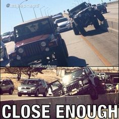 """FOLLOW @It's A Jeep Meme FOR HILARIOUS JEEP MEMES @It's A Jeep Meme  Failed attempt at @albert_jeepinrubi's traffic jam flex! Lower photo from: @Susie Horohoe!  @JEEPBEEF BY A JeepHer helped me make this meme"""" #jeepbeef #Padgram"""