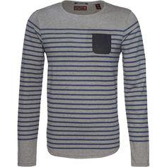 Pullover mit Streifen - Toller Pullover in Grau von Scotch & Soda. Unverwechselbar und stylisch präsentiert sich dieser Pullover im Streifenlook. - ab 69,90€