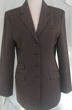 Limited Stretch Blazer Jacket Brown Fitted Equestrian Lined Womens Size M NWT #thelimited #Blazer