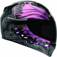 Bell Vortex Monarch Full Face Motorcycle Helmet - Black/P. Full Face Motorcycle Helmets, Full Face Helmets, Motorcycle Style, Motorcycle Gear, Motorcycle Accessories, Bike Helmets, Women Motorcycle, Bell Helmet, Custom Helmets