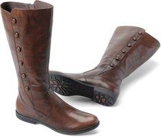Women's Born High Flat Boot Sage Walnut Brown Leather B42206 | eBay  #leather #boot #born