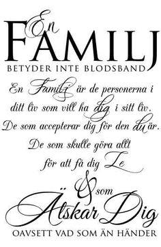 Väggord: En familj