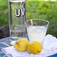 Coconut Lemon Cake (1 part UV Cake Vodka  1 part coconut rum  3 parts lemonade)