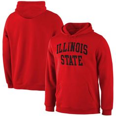 Illinois State Redbirds Fanatics Branded Basic Arch Expansion Hoodie - Red
