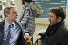 """Lester Nygard meets the mysterious con man """"Lorne Malvo"""" and tells him about his troubles with Sam Hess."""