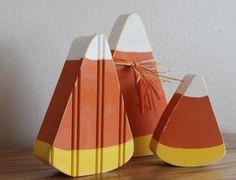 Candy Corn Wood Cutout Set of 3