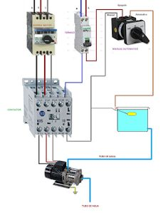 Water Pump Motor Wiring Diagram Switch And Light Single Phase With Contactor Woodworking Bomba Manual Automatico