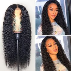 Glueless Full Lace Human Hair Wigs 360 Full Lace Front Wig -Curly -SULMY 20 Inch 150%