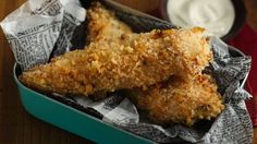 BAKED Ranch Chicken Tenders -  Family favorite Ranch flavors will delight everyone.