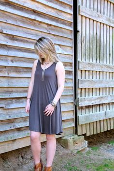 Love this charcoal dress!