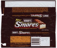 Hershey's - S'mores candy bar wrapper - New! - 2004