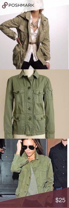 J.crew military jacket Excellent condition,pic2 is the jacket I have,others are for style reference,they are very similar J. Crew Jackets & Coats