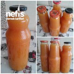 Doğal Şeftali Nektarı (Kışa Hazırlık) Alcoholic Drinks, Beverages, Vegetable Drinks, Delicious Fruit, Iftar, Turkish Recipes, Hot Sauce Bottles, Herbalism, Food And Drink