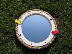 An old mirror upcycled. Nautical Mirror, Old Mirrors, Poker Table, Upcycle, Home Decor, Homemade Home Decor, Poker Table Top, Upcycling, Upcycled Crafts