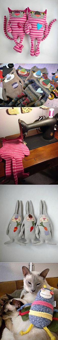 Мягкие игрушки из строго свитера на память!.