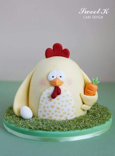 Chicken Birthday Cake Cake by guiltdesserts Cakes of all kinds