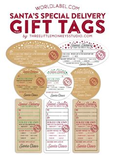 Special Delivery Santa Christmas gift labels