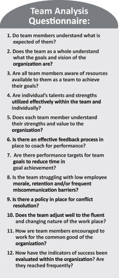 Team building Questionaire