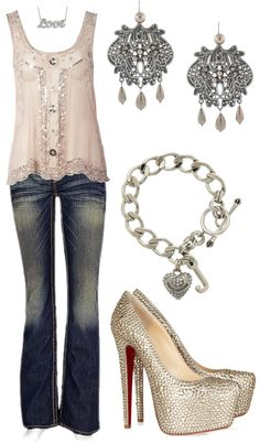 A great casual but yet dressy outfit Fashion Moda, Look Fashion, Fashion Beauty, Womens Fashion, Girl Fashion, Looks Chic, Looks Style, Style Me, Dress Outfits