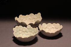 Bowl, wood-fired, glazed porcelain