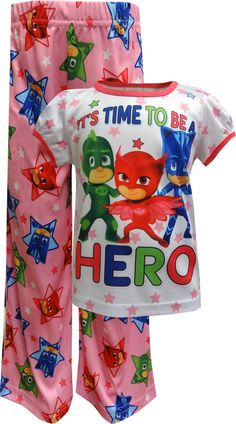 Your PJ Masks Fan Will Never Want To Take These Pajamas Off! These 100%  Polyester Pajamas For Girls Feature Owlette, Catboy And Gekko, Geared Up  And Ready ...