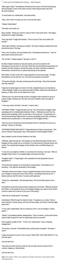 Tumblr Thinks Mary Poppins and Willy Wonka Belong In Harry Potter And Honestly It's Great