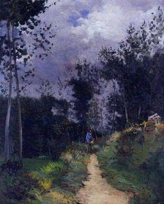 Alfred Sisley, Guarda rural en el bosque Fontainebleau, 1870. Óleo sobre lienzo, 78 x 63cm. Colección particular