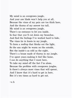 my mind is an overgrown jungle - erin hanson