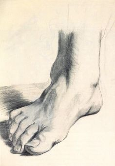 Drawings - Study of a Foot, 1922 by Salvador Dali (Spanish 1904-1989)